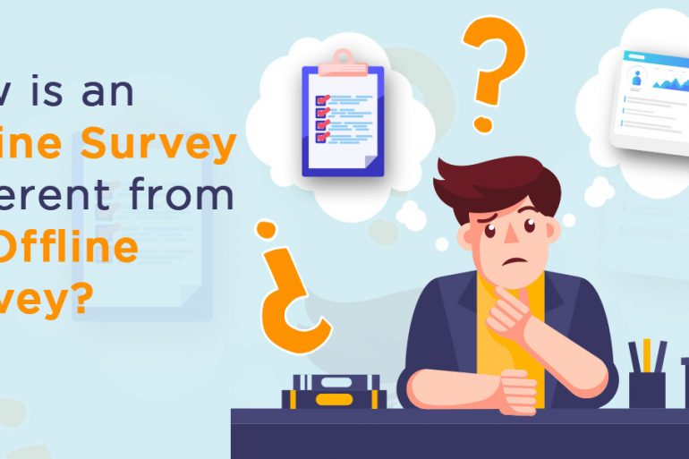 online survey vs offline survey